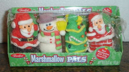 Marshmallow edible figurines